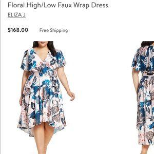 Sz 16W | High Low Faux Wrap Dress